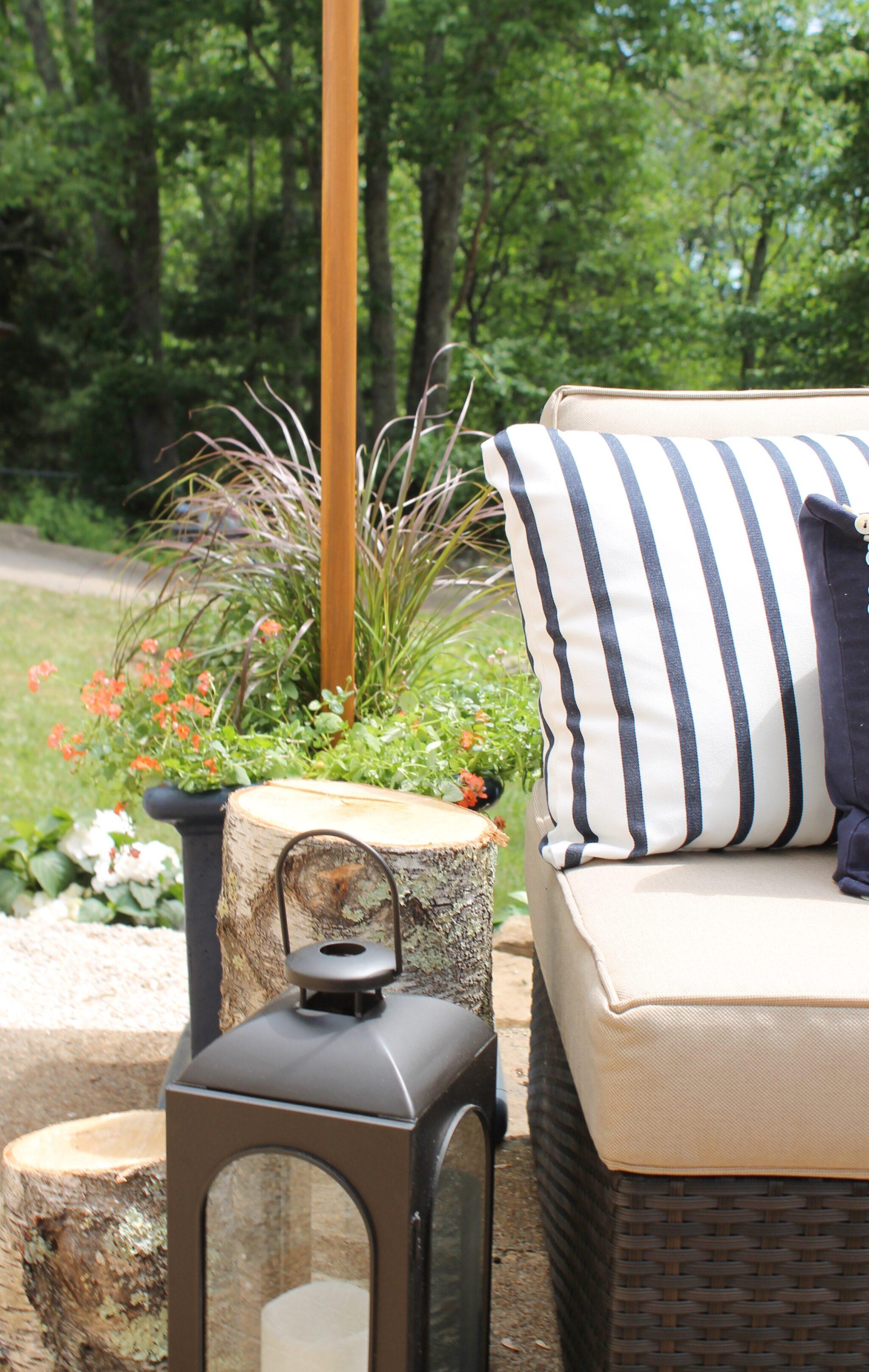 DIY Outdoor Light Poles - City Farmhouse on Backyard String Lights Diy  id=65050
