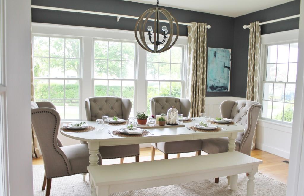 Summer Tour-Dining Room Reveal - City Farmhouse on Farmhouse Dining Room Curtain Ideas  id=75859