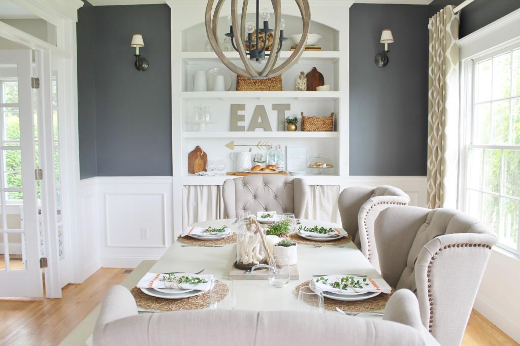 Summer Tour-Dining Room Reveal - City Farmhouse on Farmhouse Dining Room Curtain Ideas  id=14869