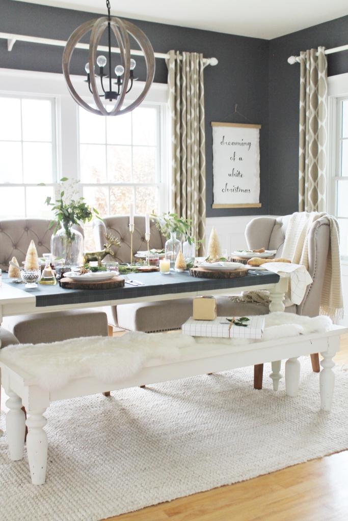 Modern Farmhouse Dining Tables - City Farmhouse on Farmhouse Dining Room Curtain Ideas  id=81161