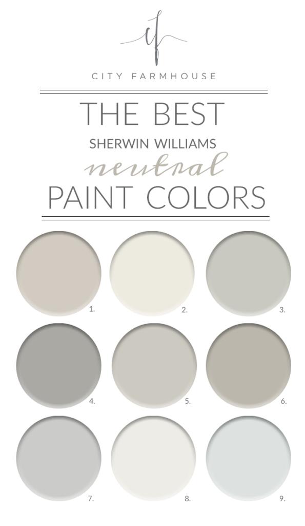 Farmhouse Paint Colors Sherwin Williams