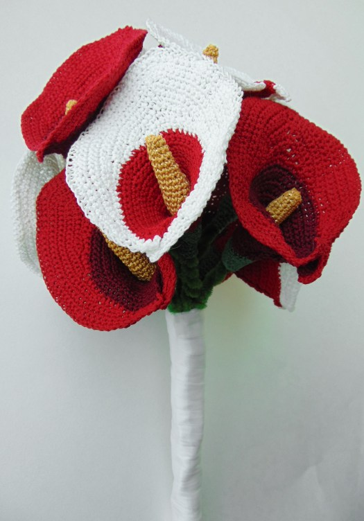 Crochet Pattern For Calla Lily Bouquet City Farmhouse Studio