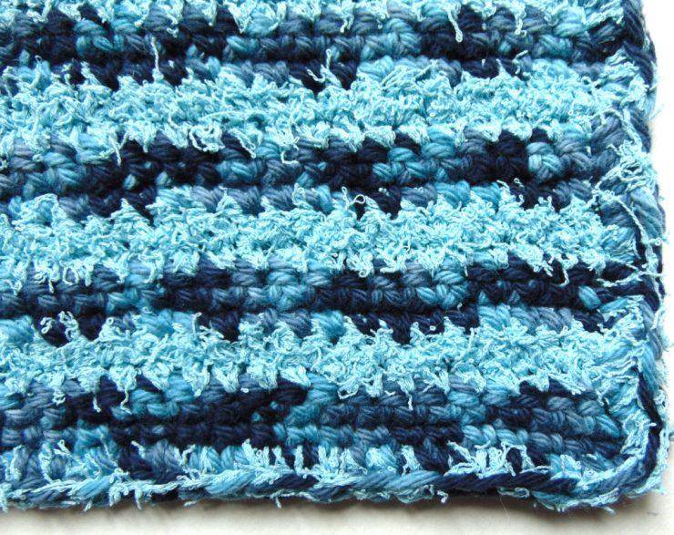 Crochet By the Ocean Dish Cloth by www.CityFarmhouseStudio.com