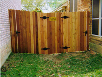 Cedar Privacy Fencing Gates