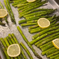Oven Roasted Asparagus with lemon