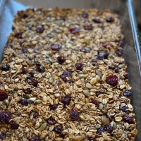 Pumpkin Seed & Cranberry Oatmeal Breakfast Bars