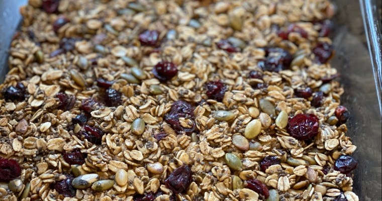 Pumpkin Seed & Cranberry Oatmeal Breakfast Bars