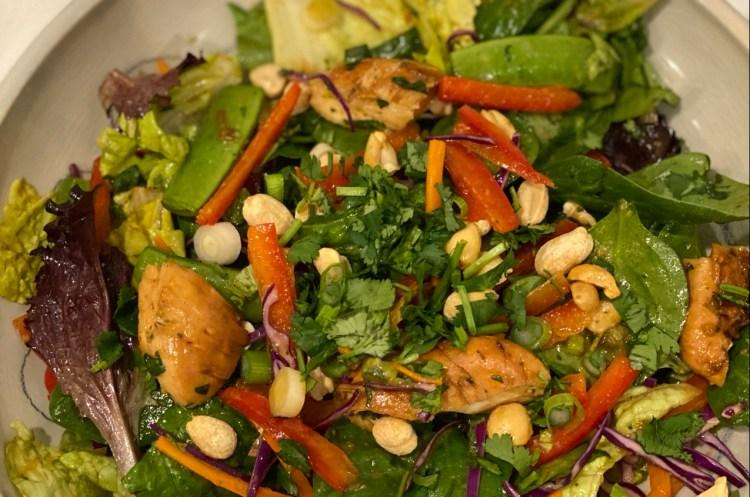 Peanut Chicken Stir Fry Salad