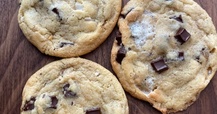 Marshmallow, Coconut & Dark chocolate chunk cookies