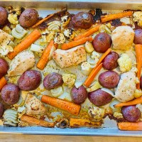 Sheet Pan Ranch Chicken & Veggies