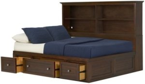 Spencer Mid Tone Bookcase Daybed Baby Kids Daybeds