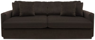 Brown Microfiber Sectional Couch