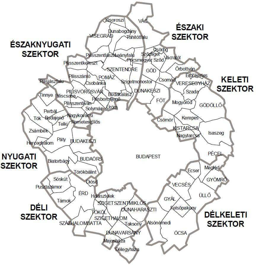Pest megyei térkép