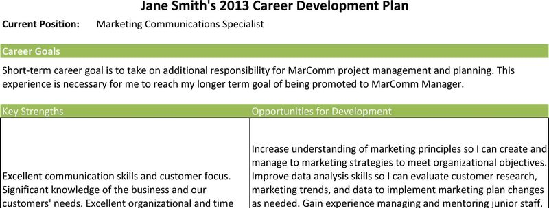 career goal objectives