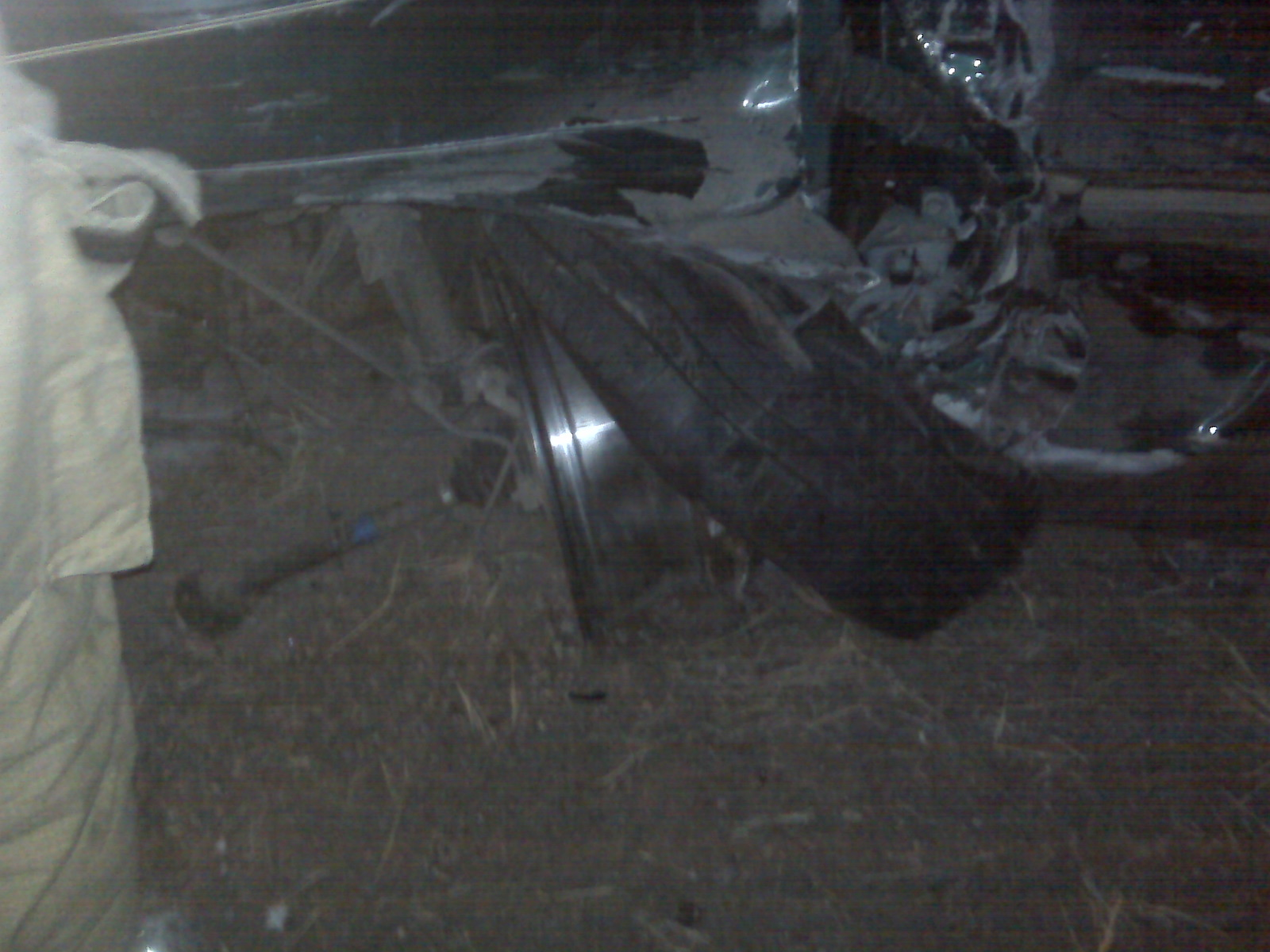 Front left wheel after accident