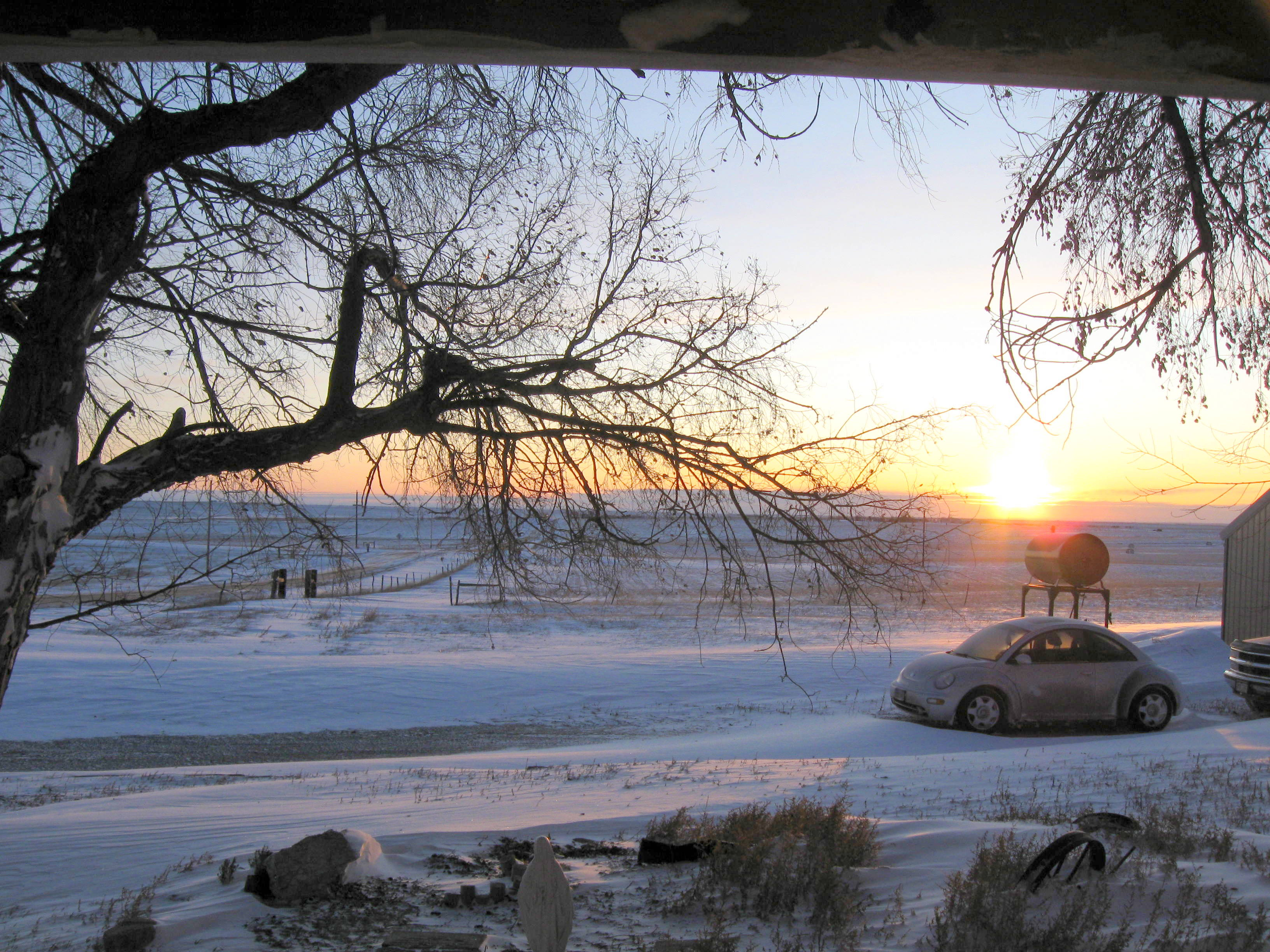 Looking toward the sunrise