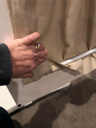 DIY Hutch Curtains
