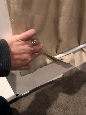 DIY Hutch Curtains