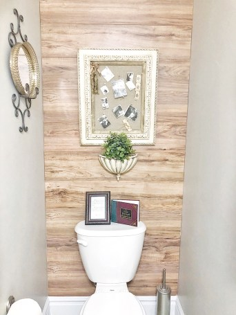 Laminate Wood Wall Installation in the Bathroom