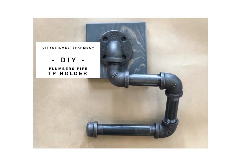 Plumbers Pipe TP Holder