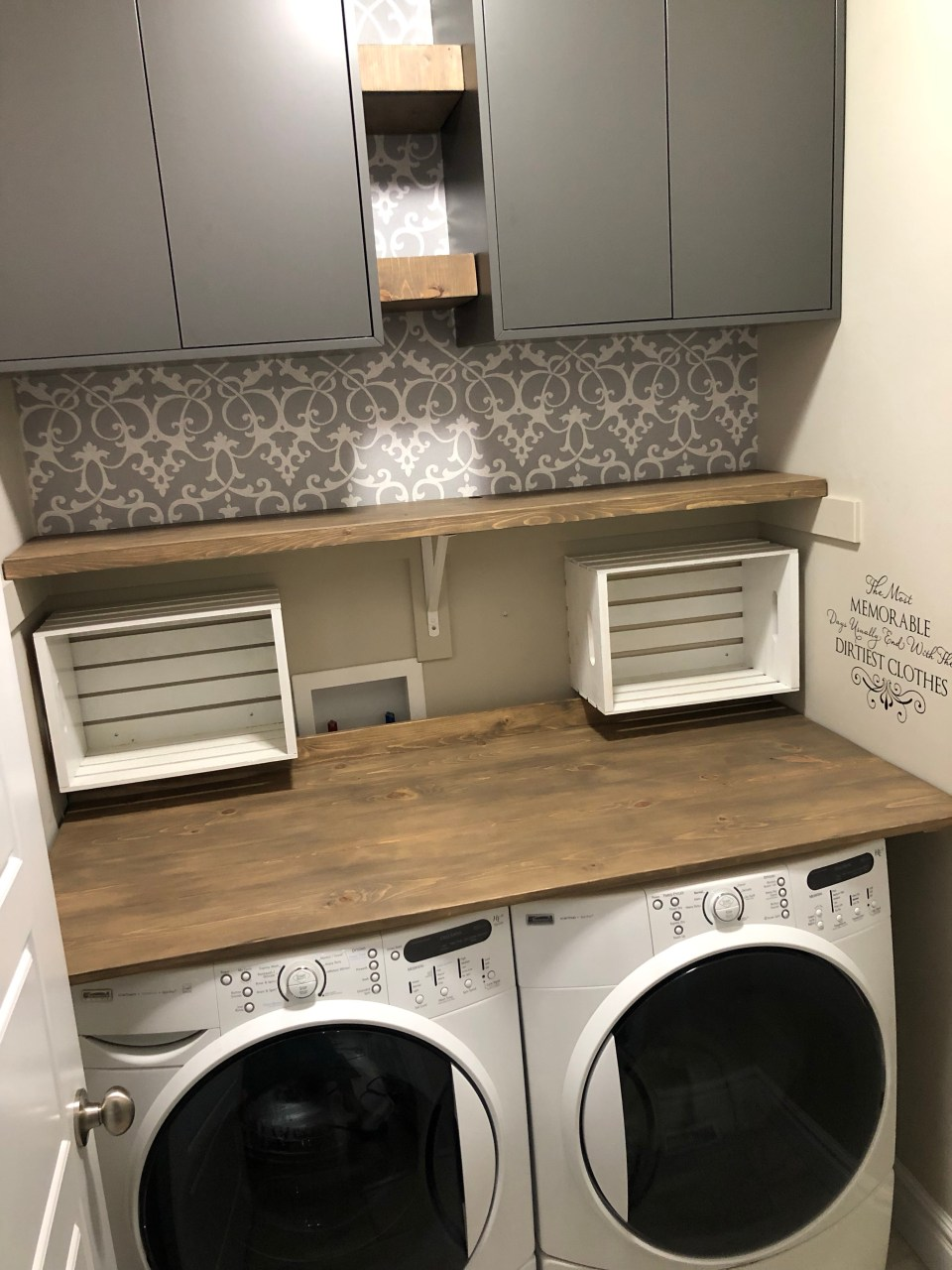Building a laundry room folding table