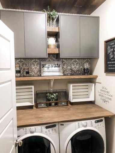 Laundry Room Renovation and Farmhouse Style Update