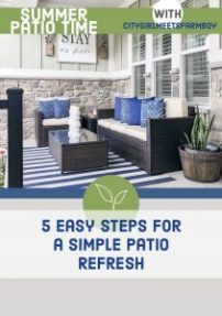 Outdoor Summer Patio Refresh