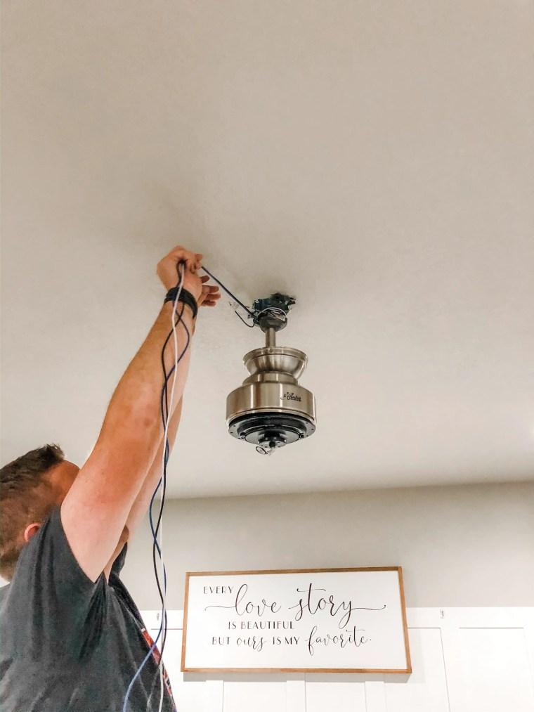 Hunter Ceiling Fan Installation Master Bedroom
