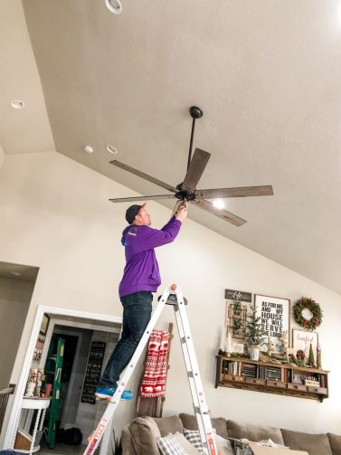 Hunter Ceiling Fan Installation Warrant 70 in Silver