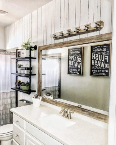 Hanging Bathroom Shelving