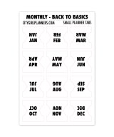 Small Monthly Back to Basics black and white