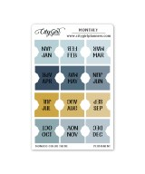 Small Monaco Monthly Planner Tabs