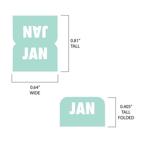 Mini planner tab measurements