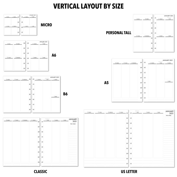 Metro Planner Vertical layouts