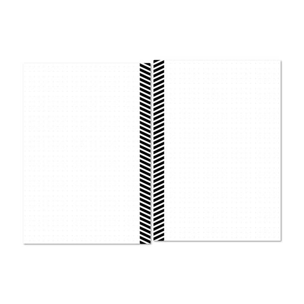 Striped design on margin