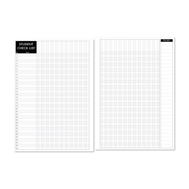 student checklist for teacher planners