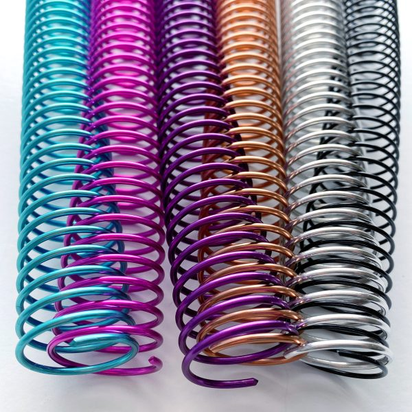 metallic spiral coil binding spines