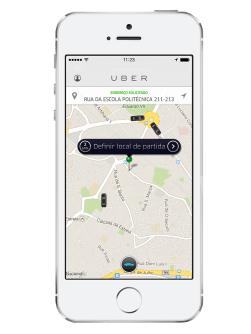 Uber - Screenshot - Lisboa