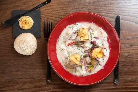 Fresh Cevice as a symbol of the excellent cuisine served at the Cevicheria
