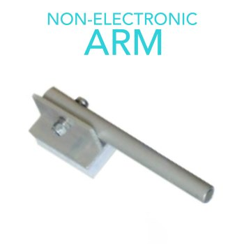 Non-electric arm for knitting machine
