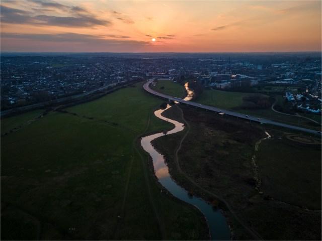 Aerial view of the River Chelmer. Photo credit: Muhammad Yaqub Ali Akbar