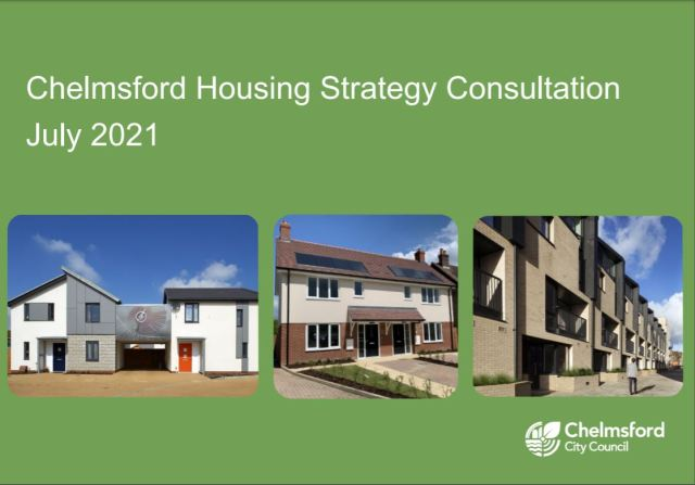 Front cover of Chelmsford Housing Strategy Consultation document