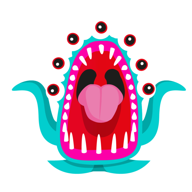 An illustration of 'Groaner'', one of the inflatable monsters