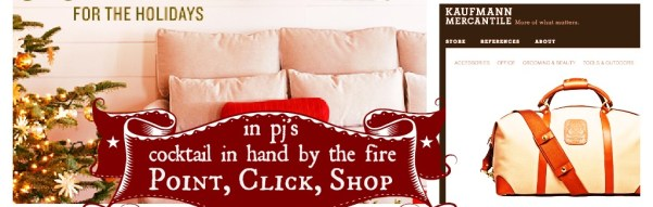 Shop by the Fire:  Digital Boutique Browsing