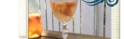 Peach Sangria with Bourbon