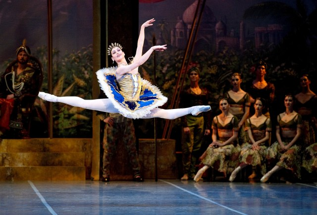 Boston Ballet's La Bayadère :  Kathleen Breen Combes and Lasha Khozashvili.  Photograph by Gene Schiavone courtesy of Boston Ballet