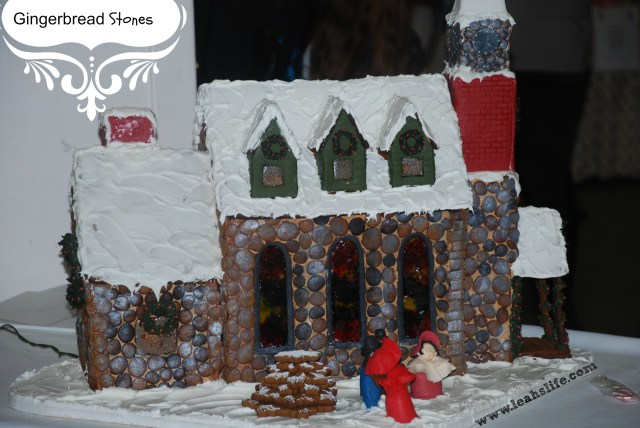 This was a gorgeous stone church. I didn't realise until someone told me that each of the stones are gingerbread. All these amazing gingerbread structures made it very difficult to choose winners.