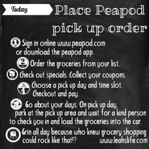 Peapod Pick Up Service