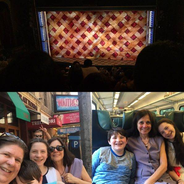 The family heads to Broadway to see Waitress the Musical