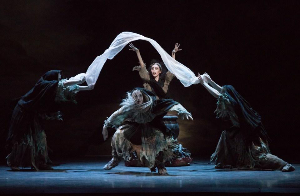 Maria Alvarez and Boston Ballet in August Bournonville's La Sylphide; photo by Rosalie O'Connor, courtesy Boston Ballet